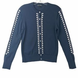 J. Crew Embroidered Eyelet Jackie Cardigan